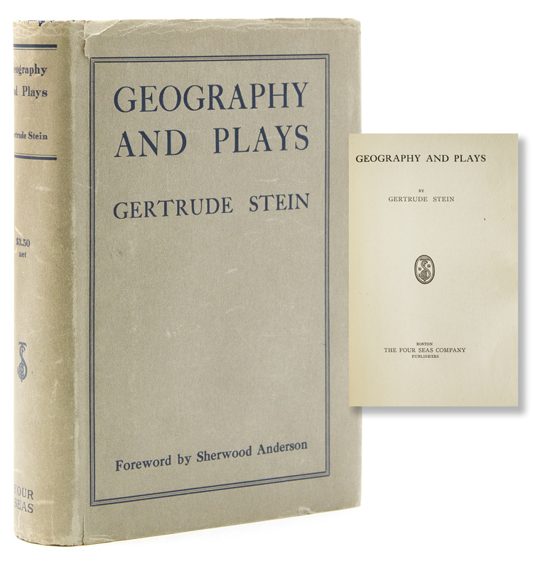 Geography and Plays. Foreword by Sherwood Anderson. Gertrude Stein.