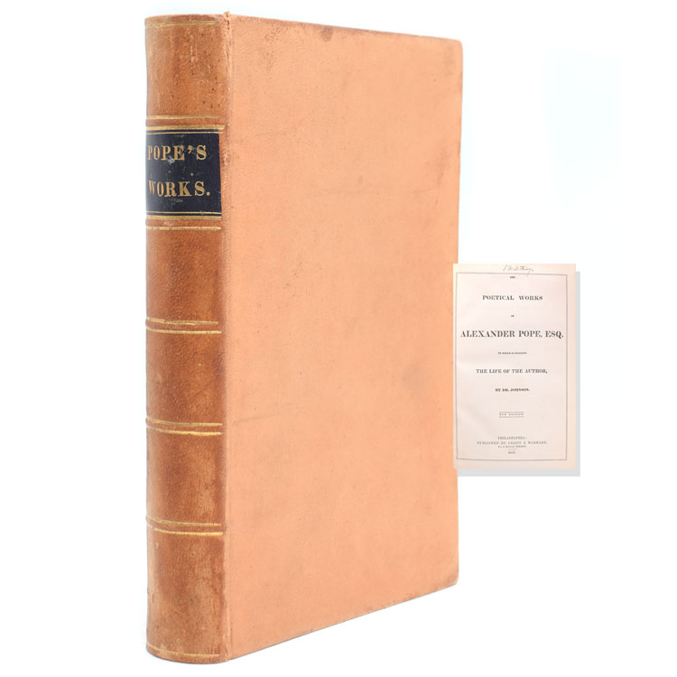 The Poetical Works of … to which is prefixed a Life of the Author by Dr. Johnson. Alexander Pope.