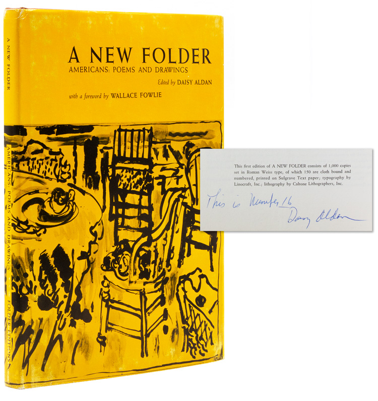 A New Folder ... Americans: Poems and Drawings. With a foreward by Wallace Fowlie. Daisy Aldan.