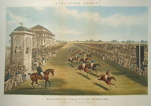 Doncaster Races. Race for the Great St. Leger Stakes, 1836, Anticipation-Who is the Winner? James Pollard.