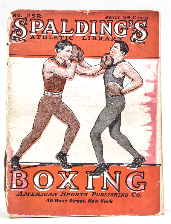 "Spalding's ""Red Cover Series"" of Athletic Hanbooks. No. 25 R. Boxing. A Guide to the Manly ART...Rules of Boxing. Boxing."