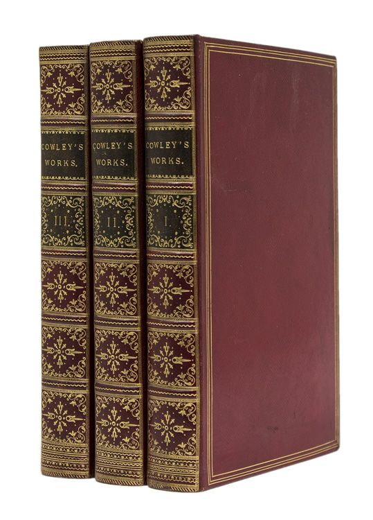 The Works of Mr. Abraham Cowley: In Two Volumes ... The Tenth edition. Adorned with Cuts. [with:] The Third and Last Volume of the Works ... The Eighth edition ... Adorned with proper and elegant Cuts. Abraham Cowley.