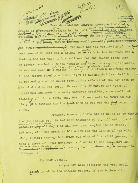 Manuscript archive for his final novel, TIME AND TIME AGAIN. James Hilton.