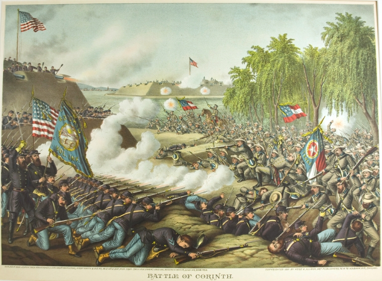 Battle of Corinth. Oct 3 & 4 1862 … [Chromolithographic print]. Civil War.
