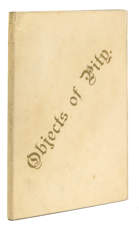 Objects of Pity; or, Self and Company. By a Gentleman of Quality. Robert Louis Stevenson, Bazzett M. Haggard.