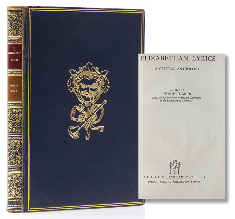 Elizabethan Lyrics. A Critical Anthology. Binding, Kenneth Muir, ed.