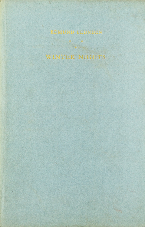 Winter Nights. Edmund Blunden.