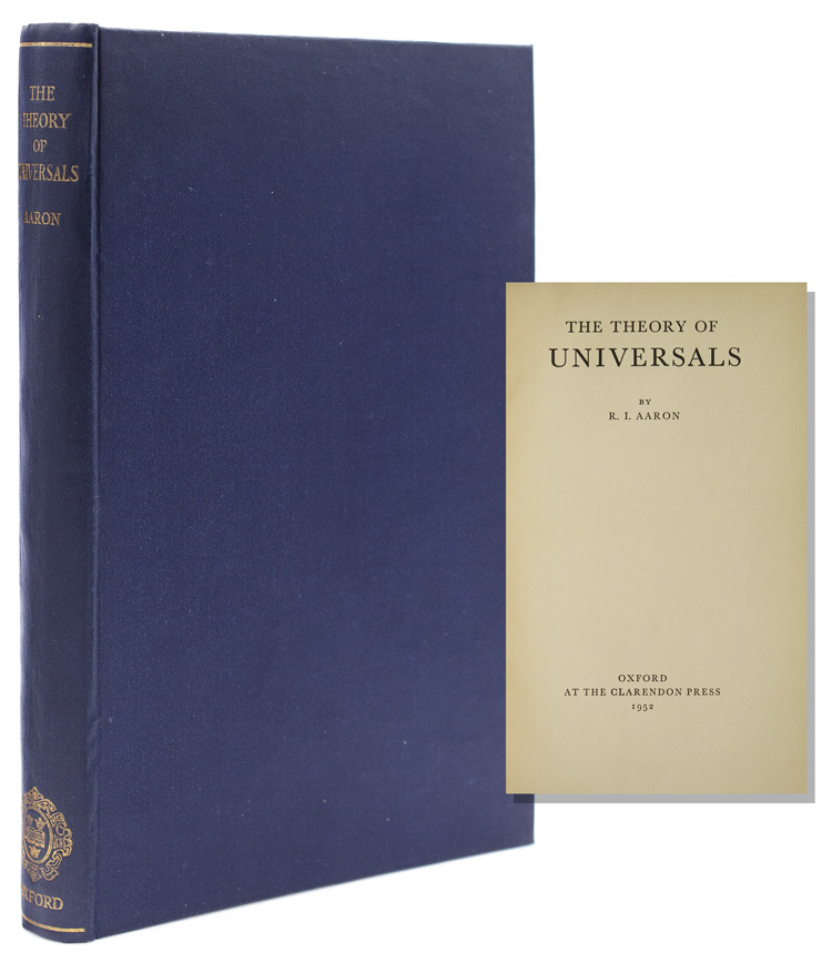The Theory of Universals. R. I. Aaron.