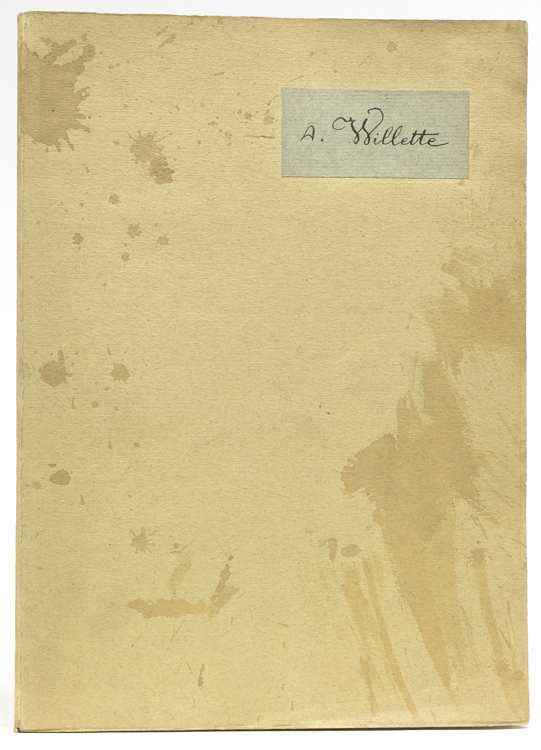 Madelaine: Monologue et 9 Dessins (5 mounted color illustrations & 4 line drawings). Curiosa, A. Willette.