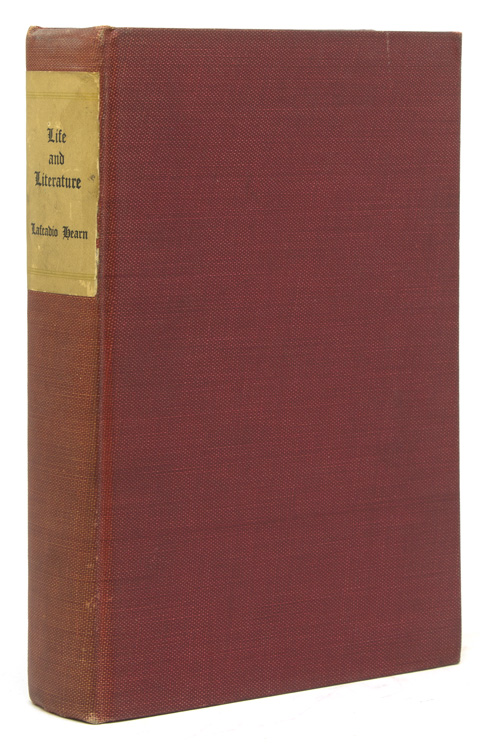 Life and Literature by . . . Selected and Edited with an Introduction by John Erskine. Lafcadio Hearn.