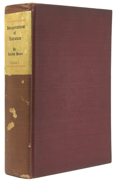 Interpretation of Literature. Selected and Edited with an Introduction by John Erskine. Lafcadio Hearn.