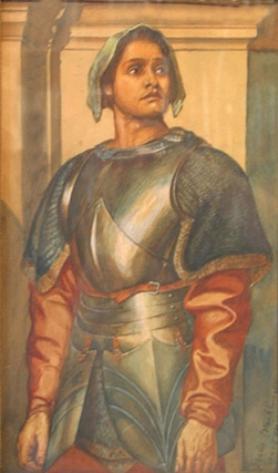 "Joan of Arc after Sir Frederic Leighton , ""A Condottiere."" Gerald Leslie Brockhurst."
