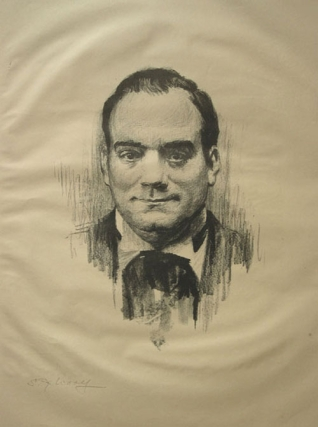 Enrico Caruso: Portrait lithograph, signed in margin in pencil, S.G. Woolf. Enrico Caruso, Samuel Johnson Woolf.