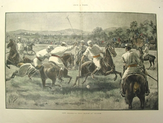 """New Jersey--A Polo Match at Orange"", wood engraving after V. Perard, signed in the plate..."