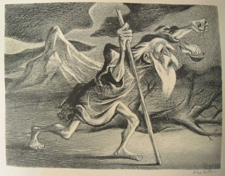"Lithograph: ""Diogenes"". William Gropper, American."