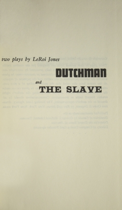 Dutchman And The Slave