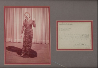 "Typed letter signed (""Marlene Dietrich"") to the News Syndicate Co., Inc. of New York City..."