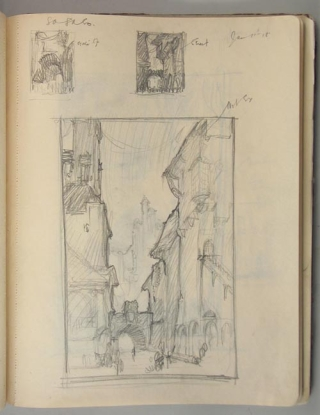 [The Ship that Sailed to Mars] [Original Manuscript Sketchbook]. William M. Timlin.