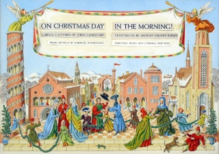 On Christmas Day in the Morning! Original double-spread watercolor design for title page of this...