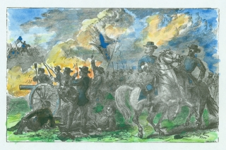 """Lee at Petersburg"" and ""Lee at the Soldiers' Prayer Meeting"": two original wood engraving..."