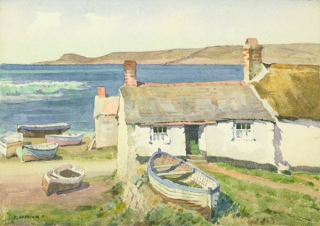 """Fisherman's Cot - Lands End Cornwall"" England Cornwall, M. Heseldine"