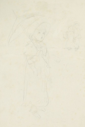 Study of a Young Girl with a Parasol. Kate Greenaway