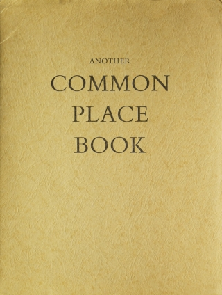 Another Common Place Book. Blackwood Press