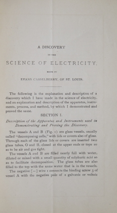 A Discovery in the Science of Electricity