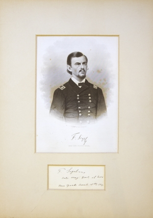 """Engraved portrait extracted from """"Abbott's Civil War"""""""