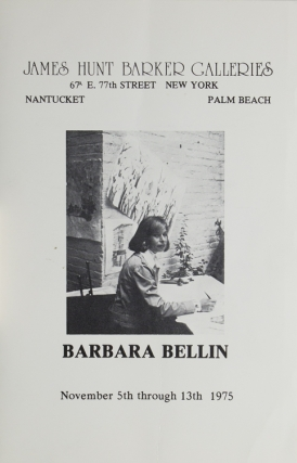 "An original watercolor and ink on rice paper, signed ""Barbara Bellin 2/14/76"". New York, Barbara Bellin."