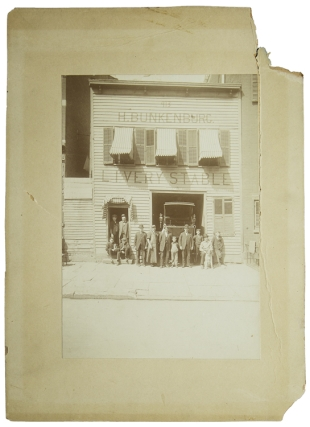 H. Bunkenburg Livery Stable: photo of building with employees in front
