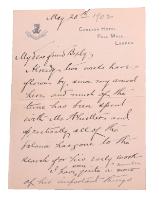 Holograph Letter of Charles I. Formerly in possession of John Evelyn. Later in the collection of Wm. Upcott and now privately printed for the friends of the present owner [William K. Bixby]