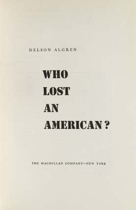 Who Lost an American?
