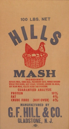 Hills (Chicken) Mash 100 LBS. Net Feed Mill Bag