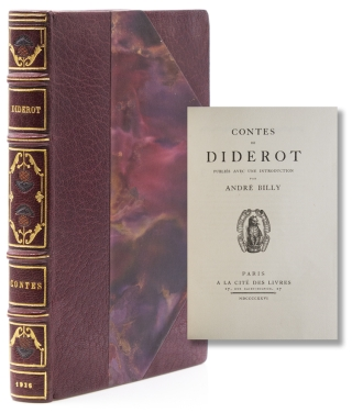 Contes de Diderot, Publiés avec une Introduction par André Billy. Denis Diderot