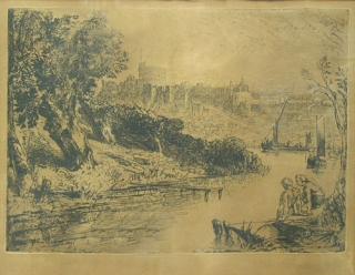 "Etching: ""Windsor"". Sir Francis Seymour Haden, British."