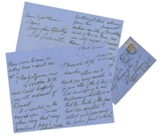 Two Autograph Letters signed to Carl Christian Giegler, Chief of Sudan Telegraph, in Khartoum....