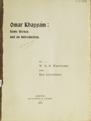 Omar Khayyám: Some Verses and an Introduction