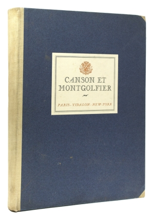 Book of Paper Specimens Manufactured by Canson et Montgolfier.]. Canson et Montgolfier