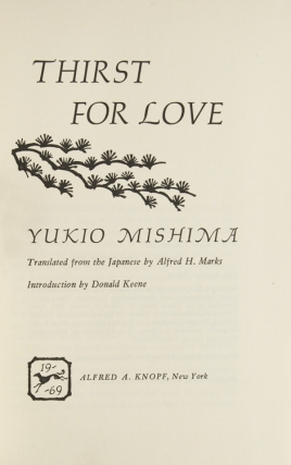 Thirst for Love. Translated by Alfred A. Marks