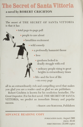 The Secret of Santa Vittoria. Michael Crichton