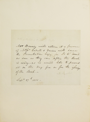 Autograph letter in the third person