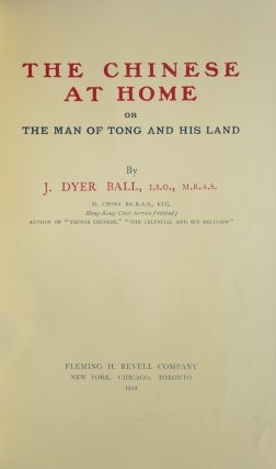 The Chinese at Home or The Man of Tong and His Land