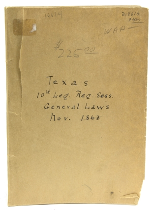 General Laws of the Tenth Legislature of the State of Texas. Published by Authority. Texas