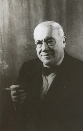 Portrait photograph of Ferenc Molnar