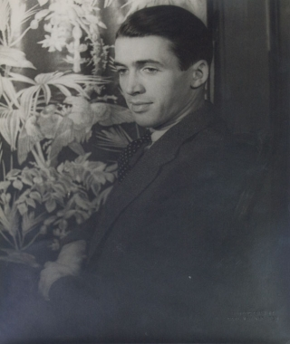 Portrait photograph of James Stewart