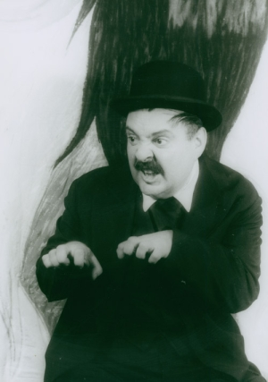 "Portrait photograph of Zero Mostel as Leopold Bloom in ""Ulysses in Nightown"""