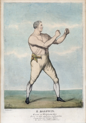 6 hand coloured Prints of Regency Boxers, depicting: Wm. Eales, James Ward, Jack Randall, E. Baldwin, Joshua Hudson, and J. Goodman
