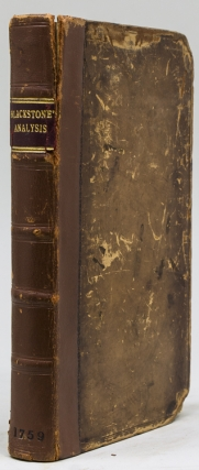 An Analysis of the Laws of England. William Blackstone.