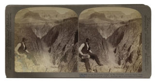Group of 25 stereographs depicting the Grand Canyon and Yellowstone